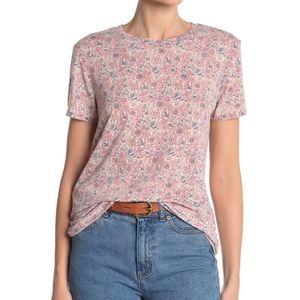 Lucky Brand Paisley Burnout T-Shirt